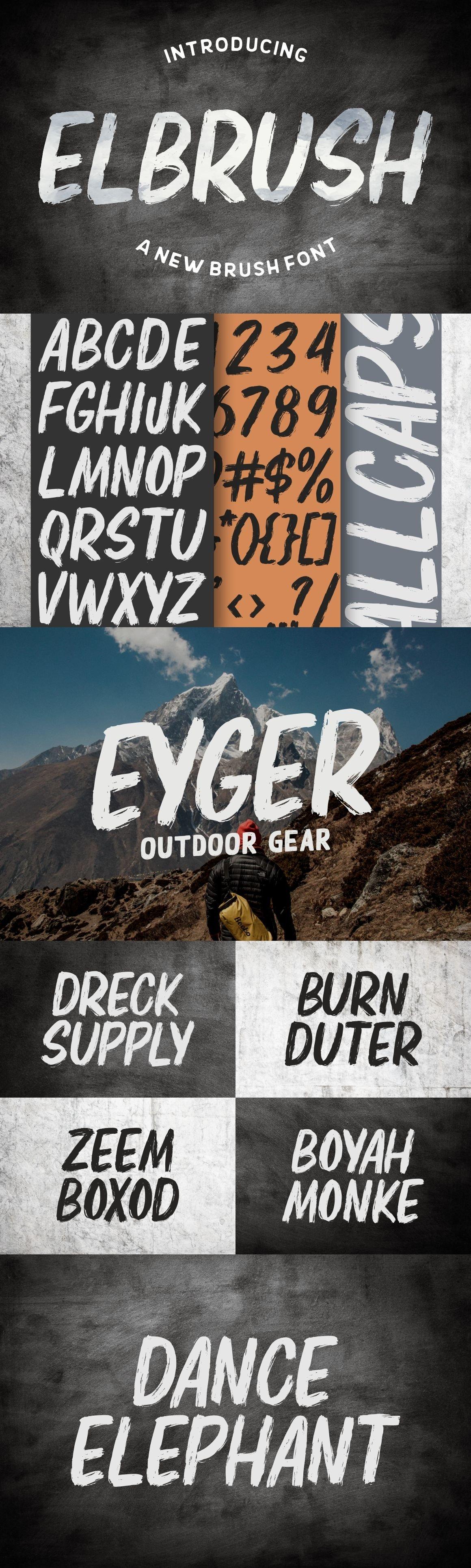 Elbrush - New Brush Font example image 2