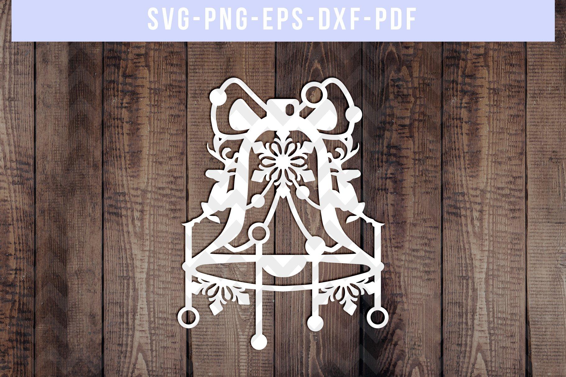 Winter Bell Papercut Template Snowflake Svg Winter Decor 299955 Paper Cutting Design Bundles