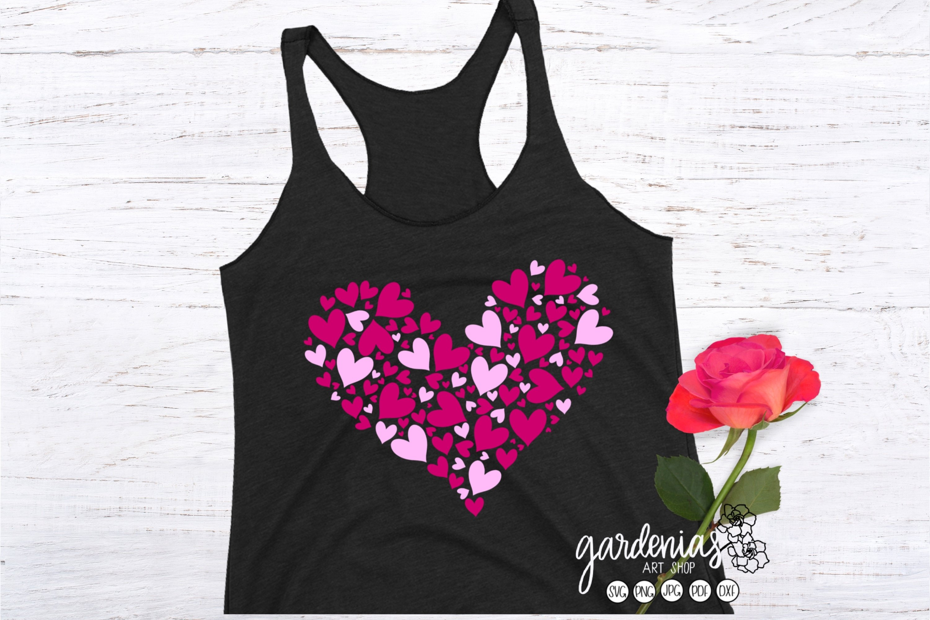 Pink Hearts in Heart SVG | Valentine's Day Sublimation example image 4