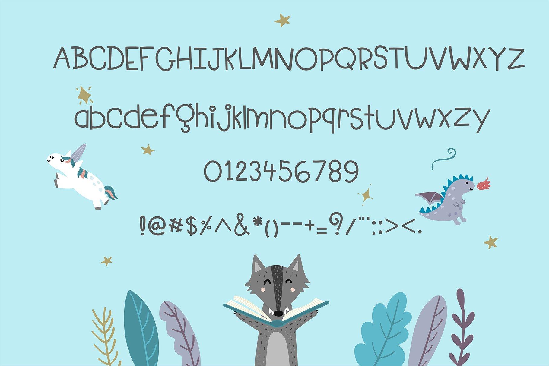 Kid Learning Handwritten- cute kid font Kawaii style! example image 5