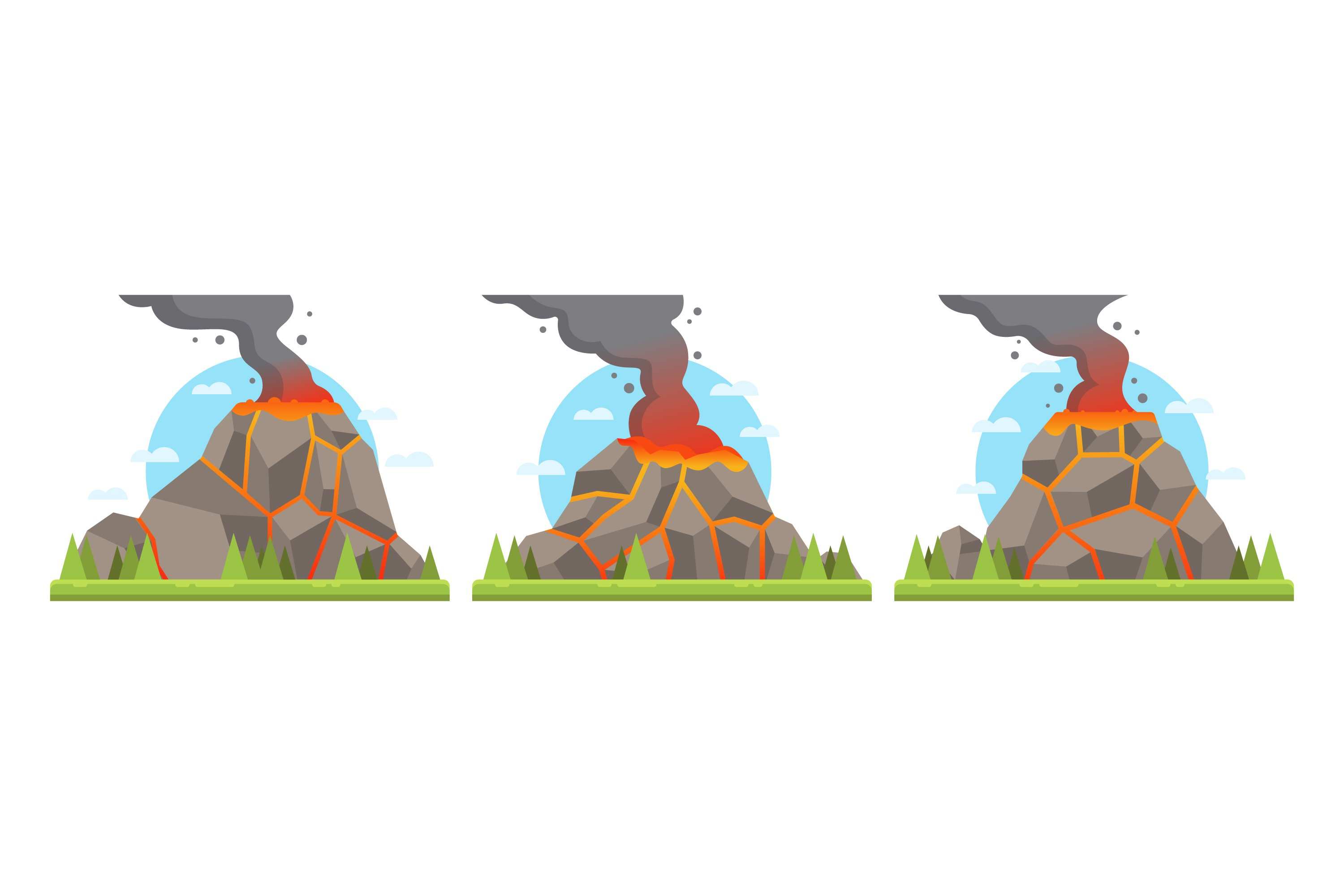 Volcano Illustrations example image 1
