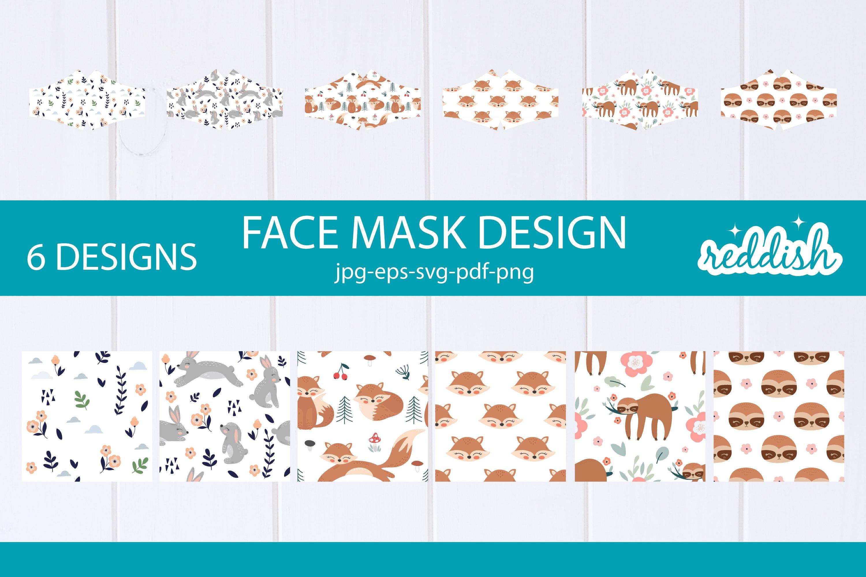6 Face Mask Design 6 Mask Svgs And 6 Patterns Designs 856286 Fabric Crafts Design Bundles
