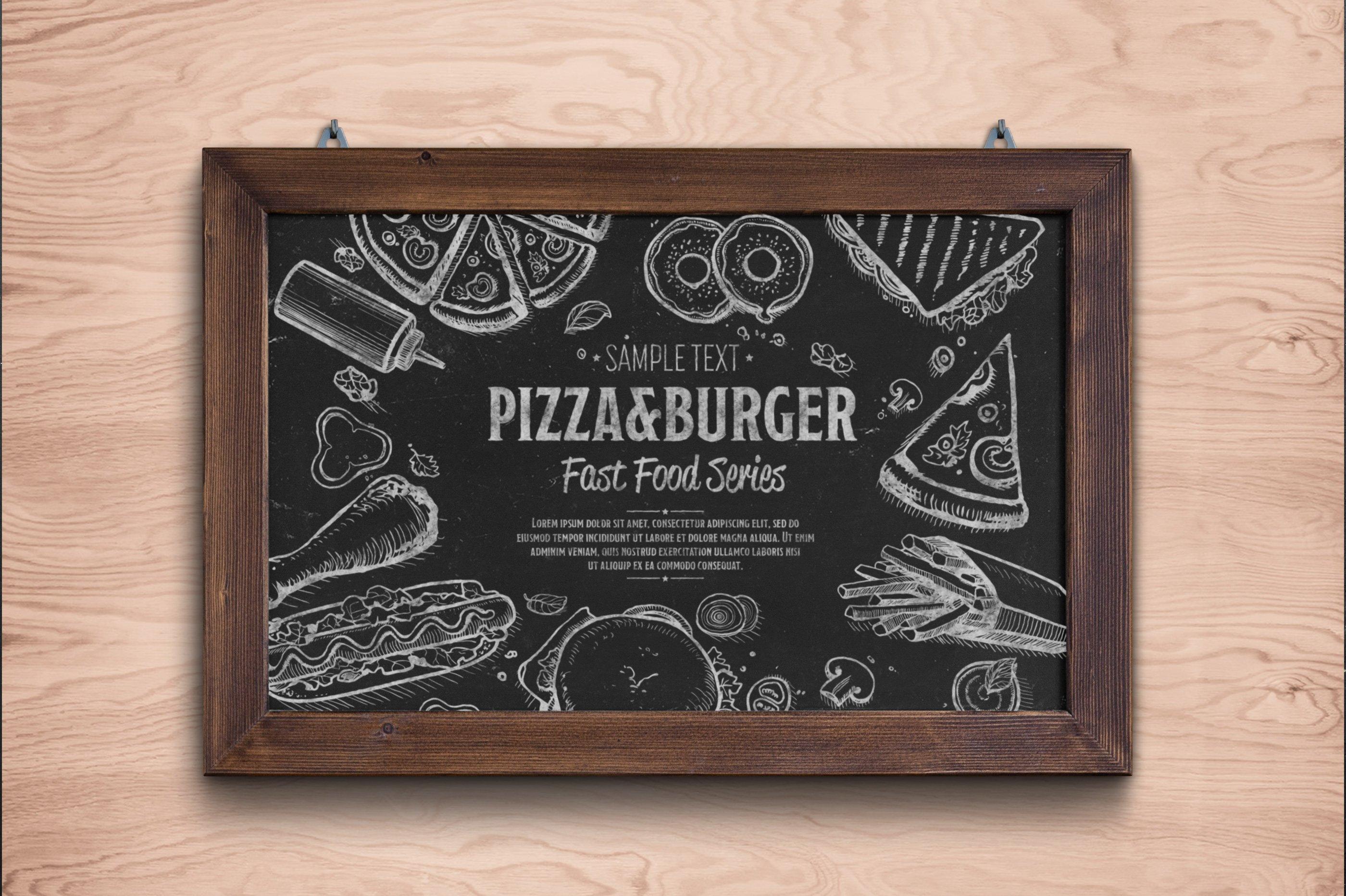 Fast Food Hand Draw Illustration Set example image 9