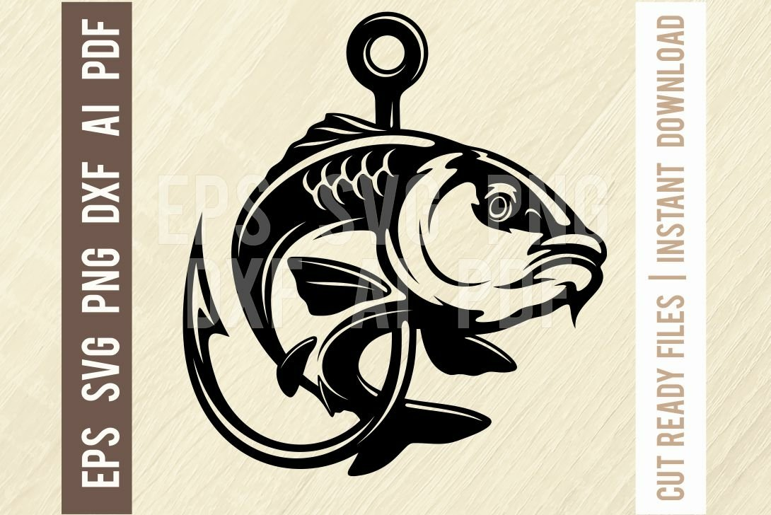 Download Fishing Carp Fishing Logo Svg Png Ai Eps Dxf Cut File 1298024 Cut Files Design Bundles