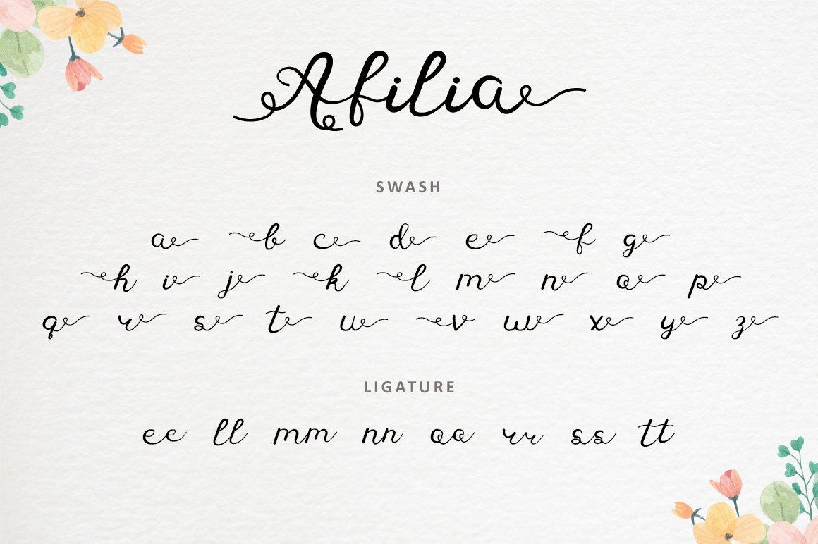 Afilia - Modern Calligraphy example image 9