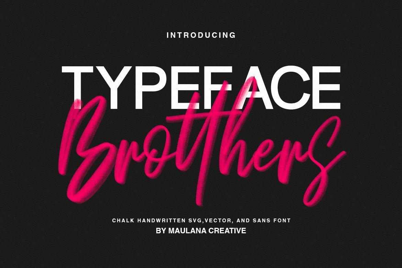 Brotthers - SVG Brush Free Sans Font example image 1