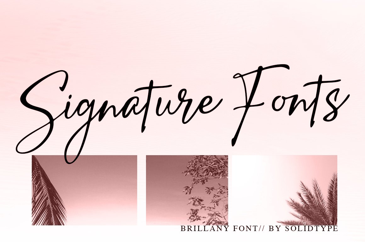 Brillany - Handwritten Font example image 4