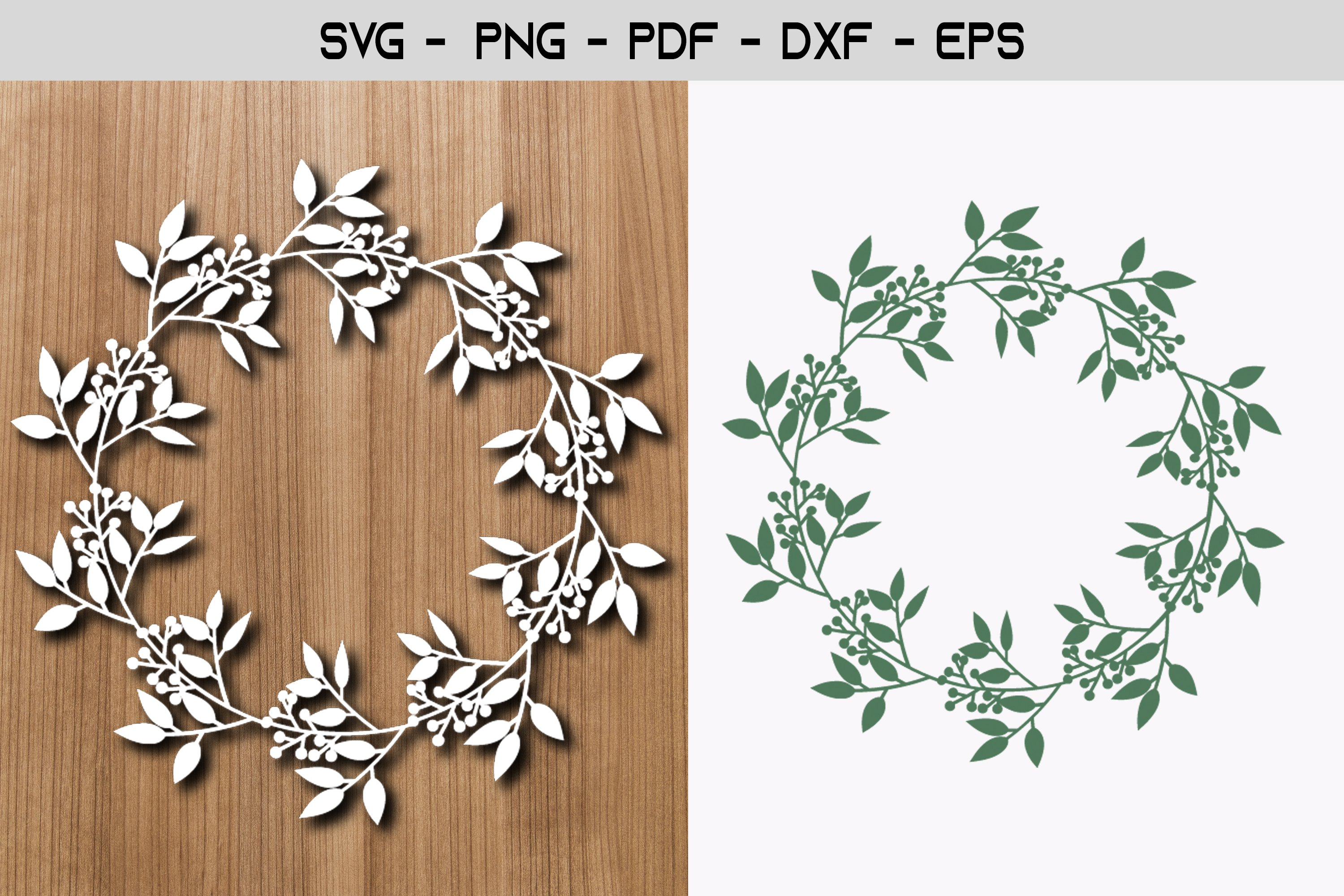 Flower Frame Paper Template Design example image 1