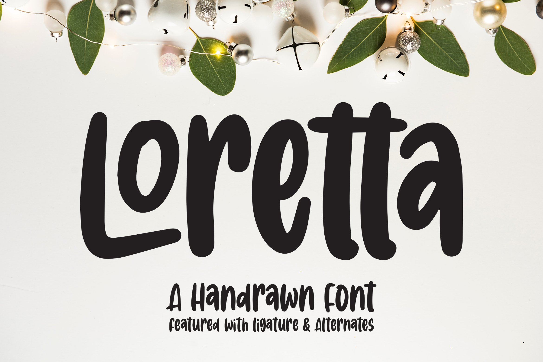 Loretta - Handrawn Font example image 1