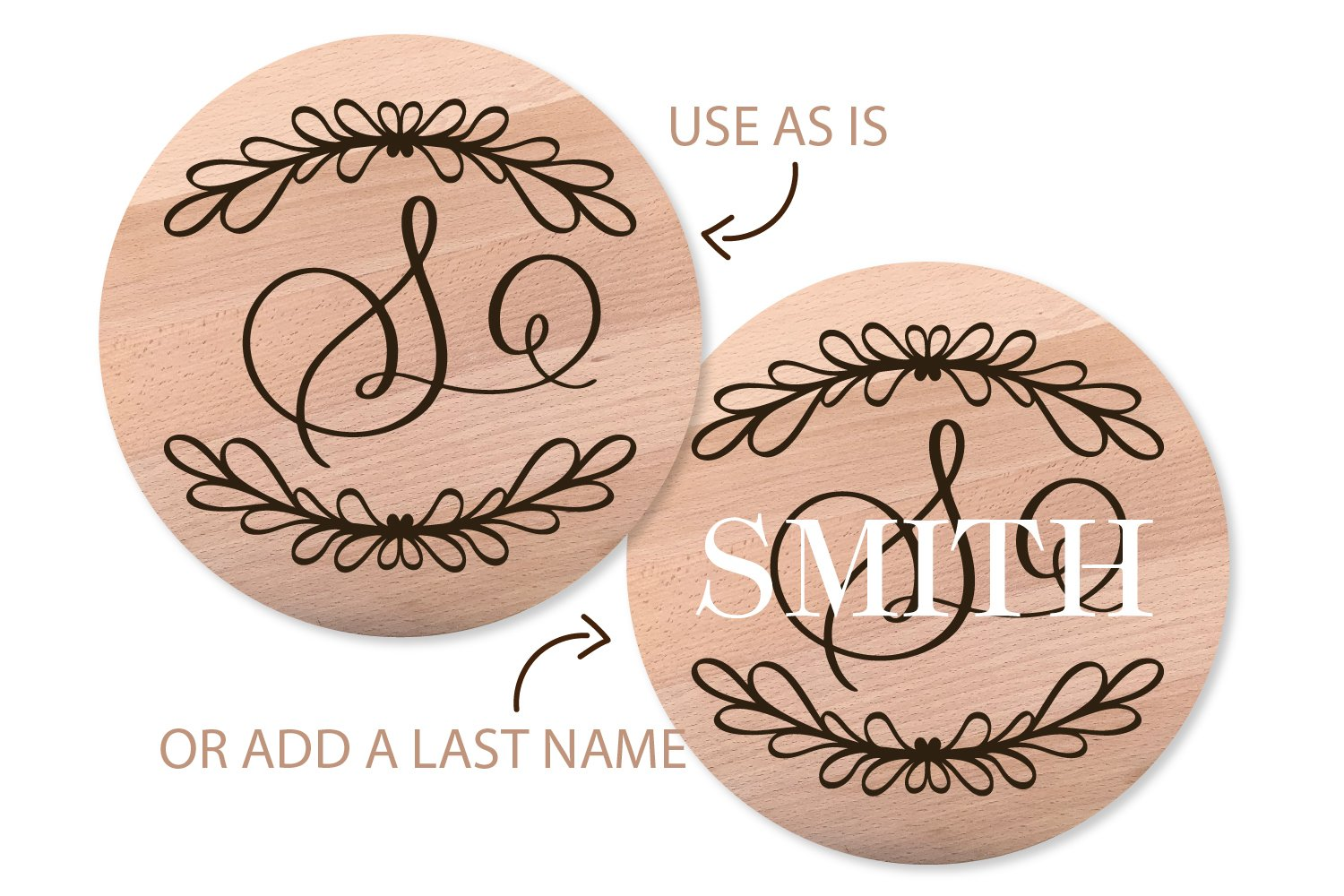 Laurel With Monogram Font - A-Z Letters example image 2