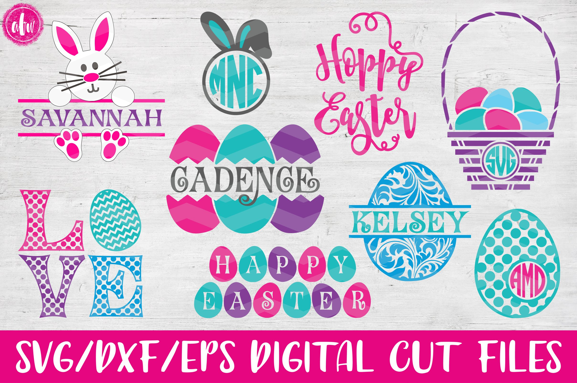 Easter Bundle - SVG, DXF, EPS Cut Files