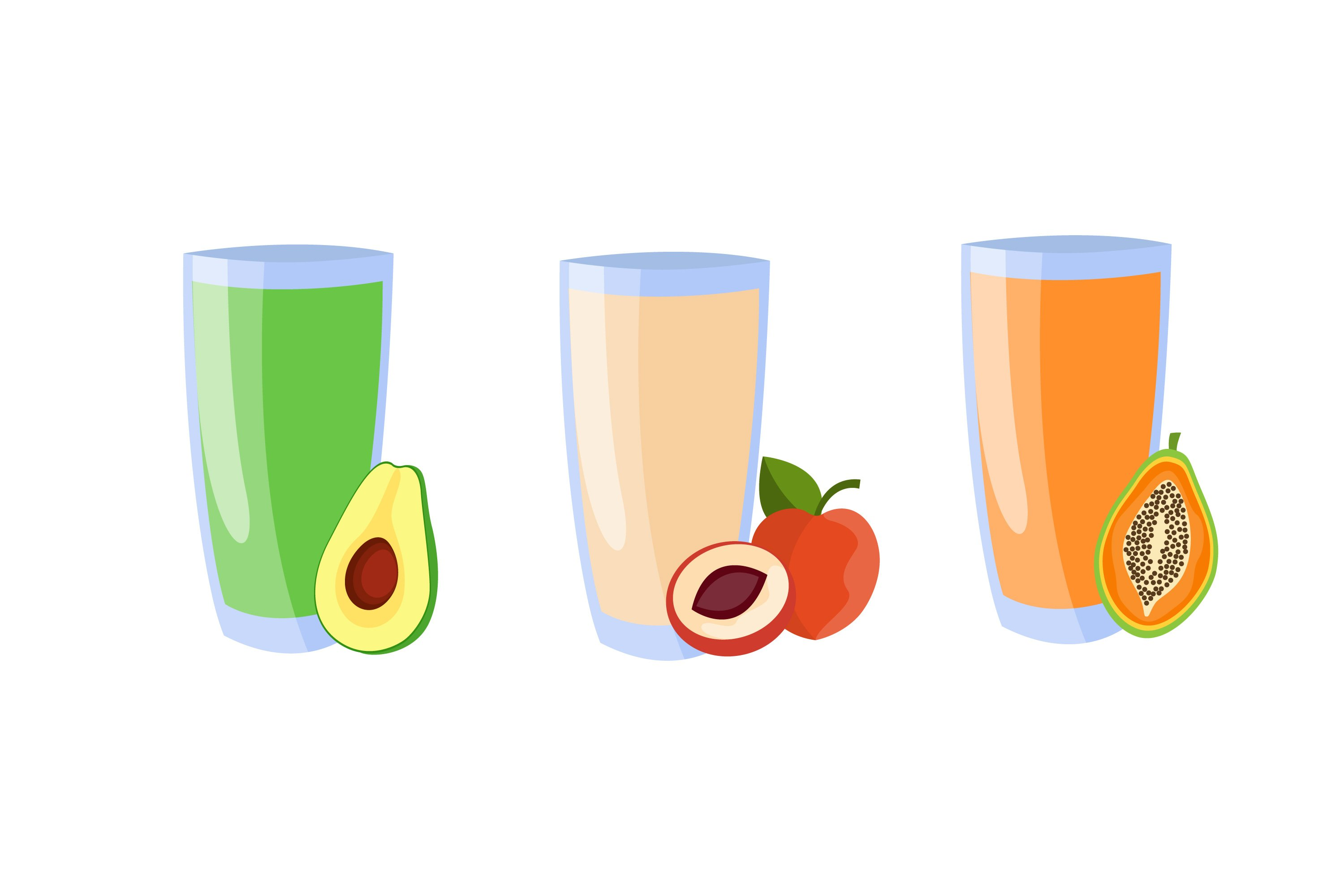 Set Juices from Fruits and Vegetables example image 1