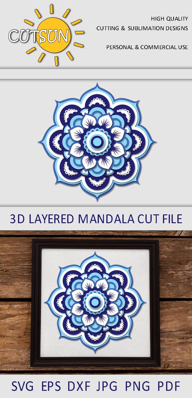 Download Mandala SVG | 3D Layered Mandala SVG cut file 20 layers ...