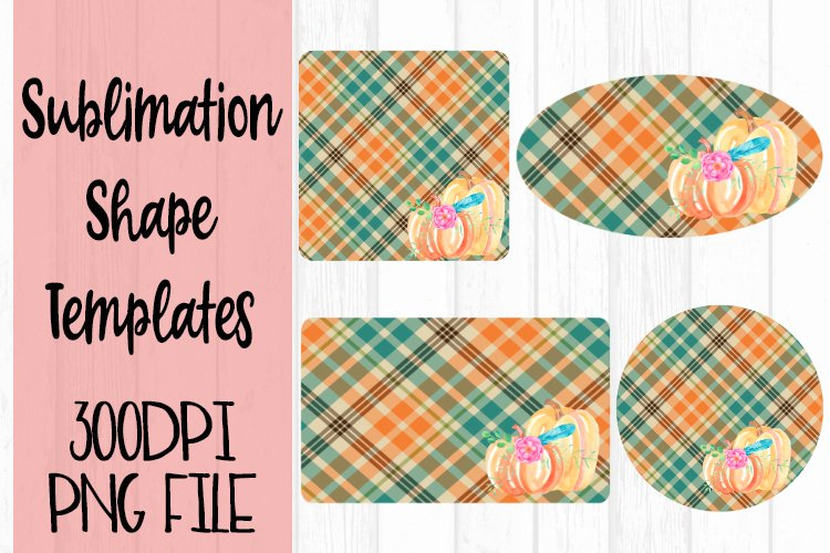 Plaid Pumpkin Sublimation Templates example image 1