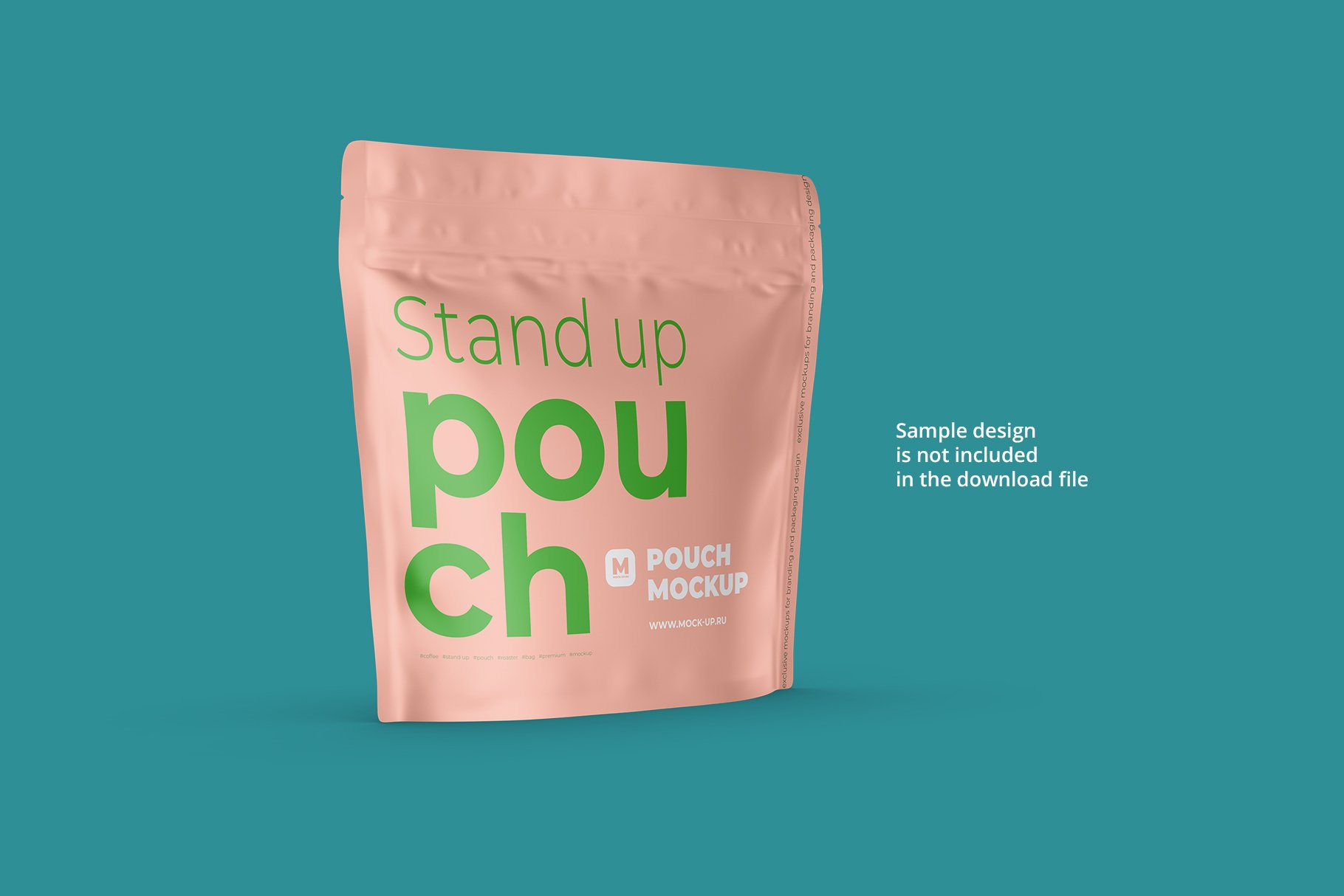 Zip Stand-up Pouch Mockup square example image 10