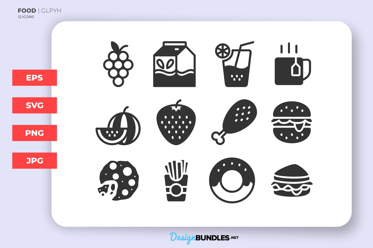 Food Glyph Icons example image 1
