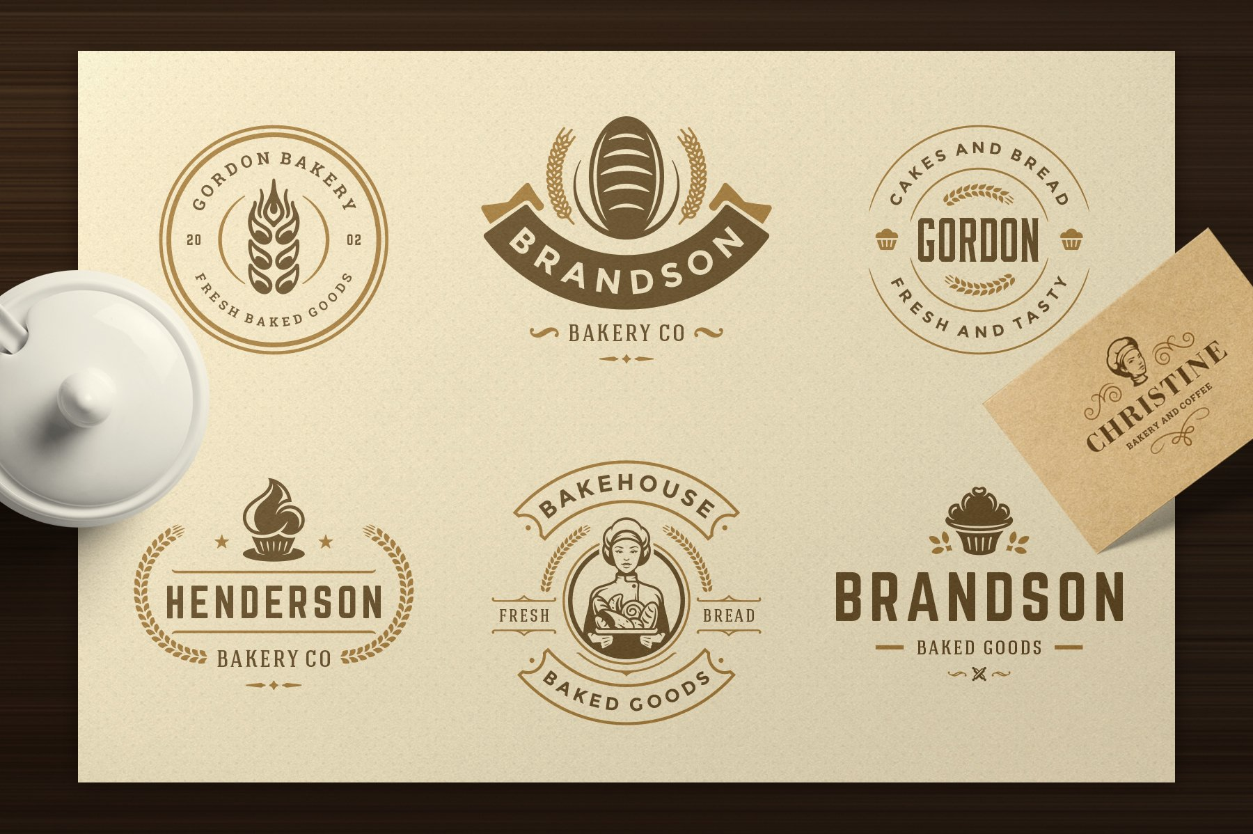 Bakery Logos and Badges example image 7