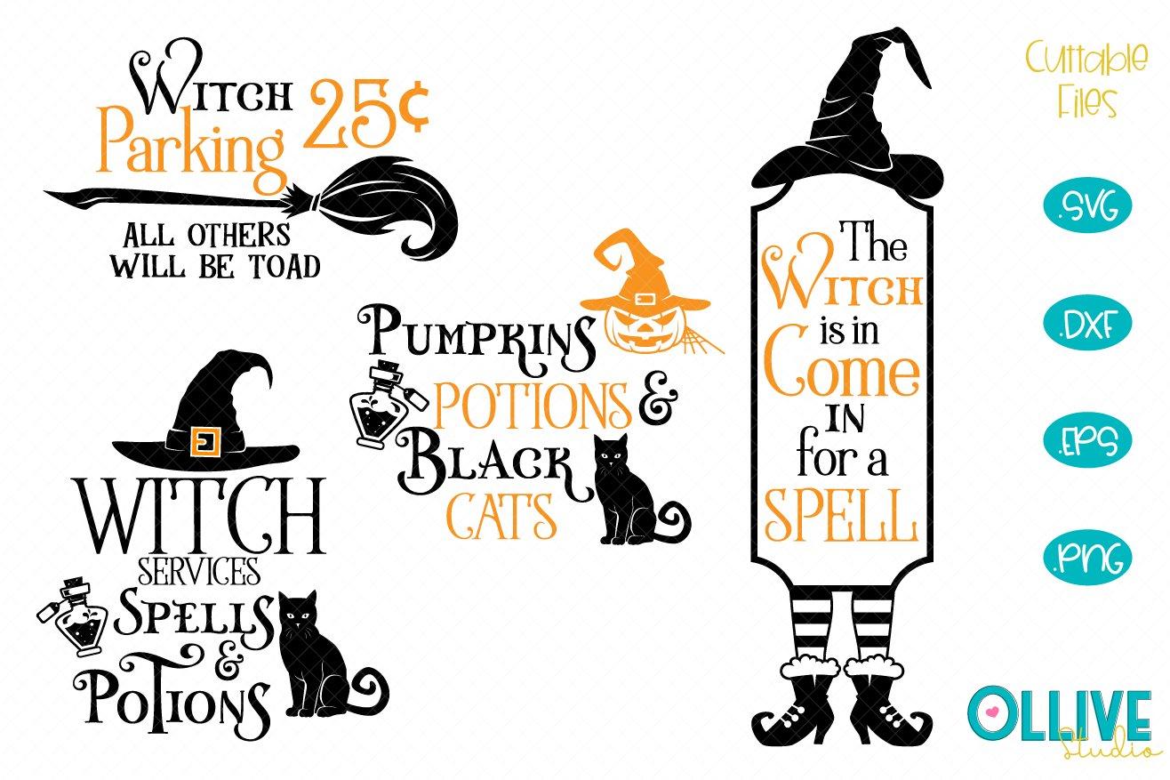 Halloween Witch Porch Signs Bundle Svg 809859 Cut Files Design Bundles