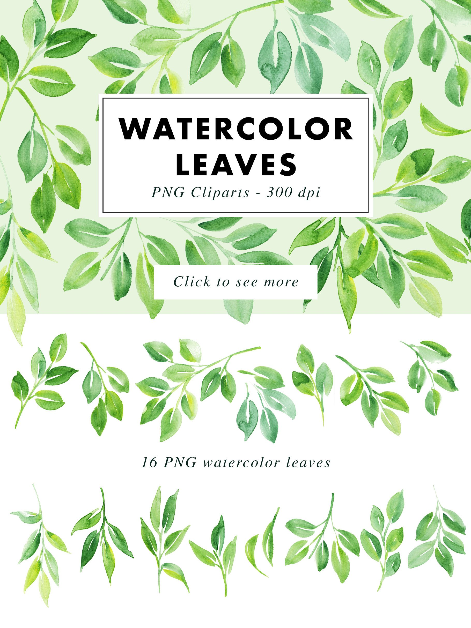 SALE | Watercolor Bundle | Best Sellers Clipart Illustration example image 21
