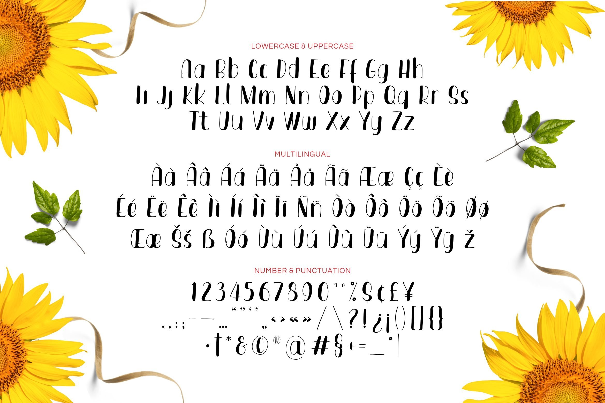 Smooth Flowers Font example image 5