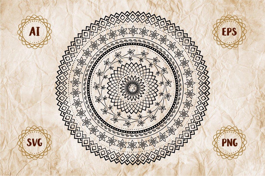 Floral mandala example image 1