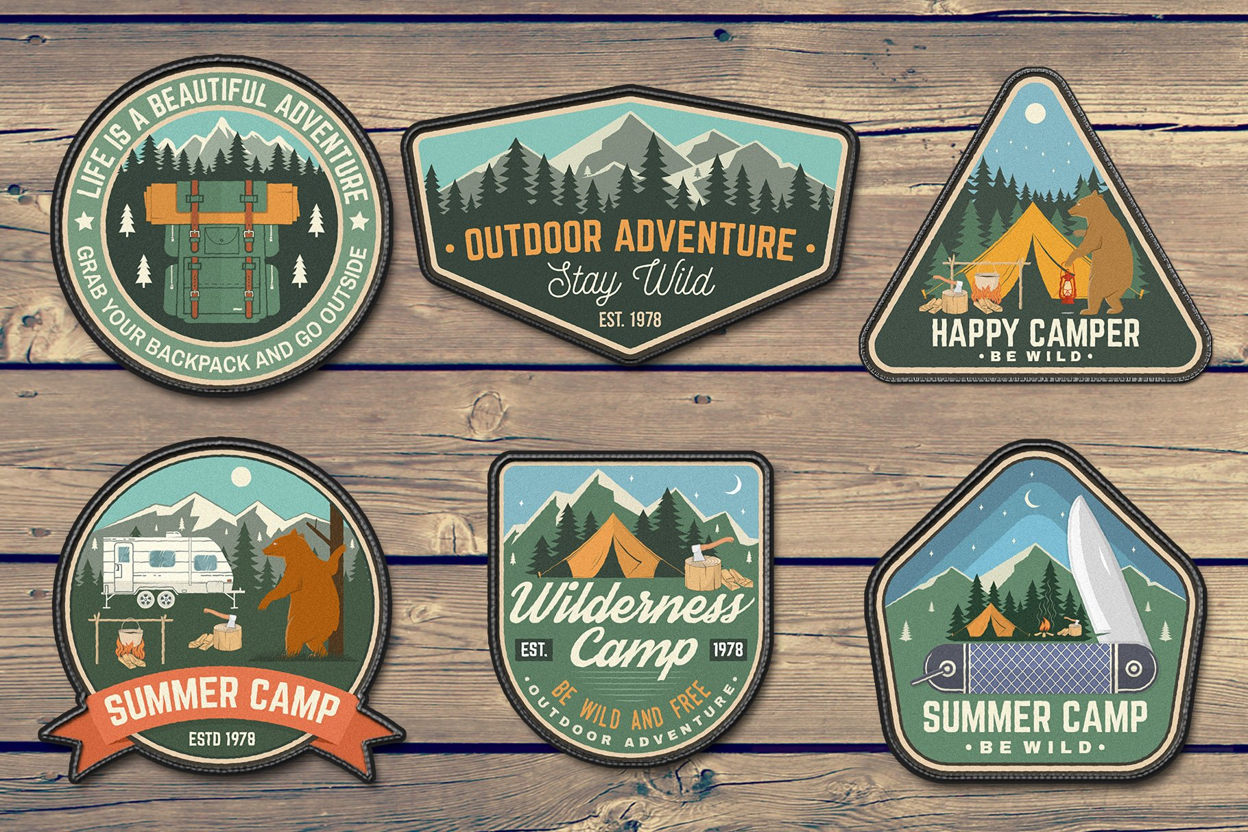 Summer Camp Patches Part 2 example image 2
