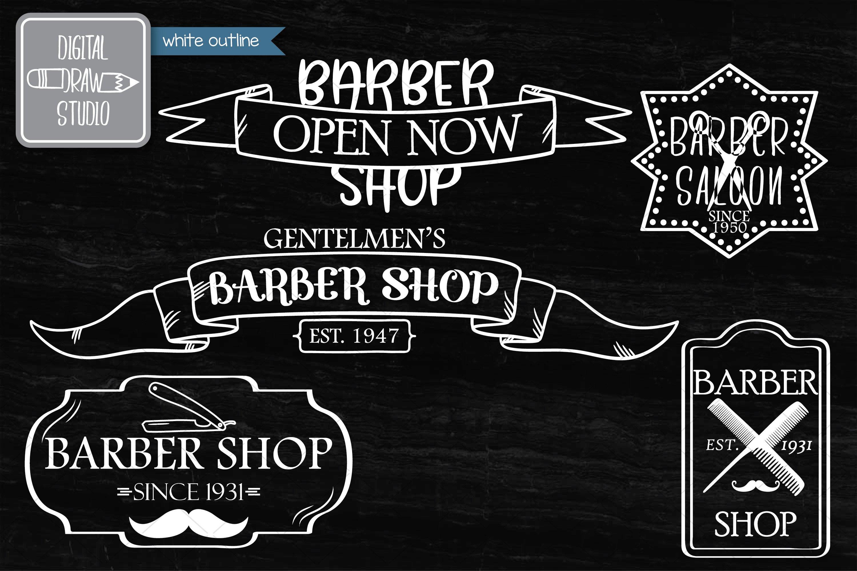 Hand Drawn Barber Shop Logo| Retro Hairdresser | Esp Svg Png example image 7