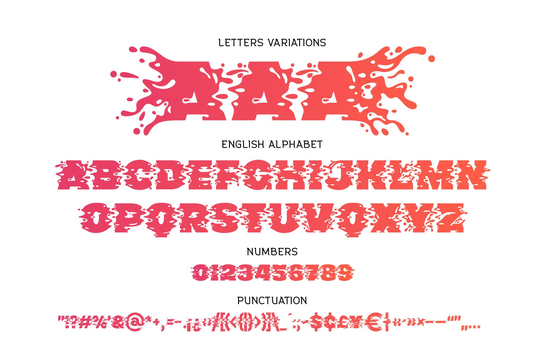 Plop liquid font example image 6