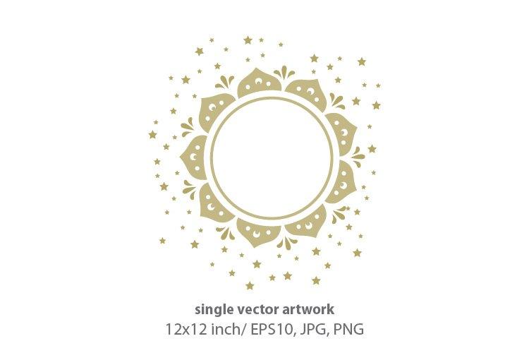 golden sun - single vector artwork example image 1