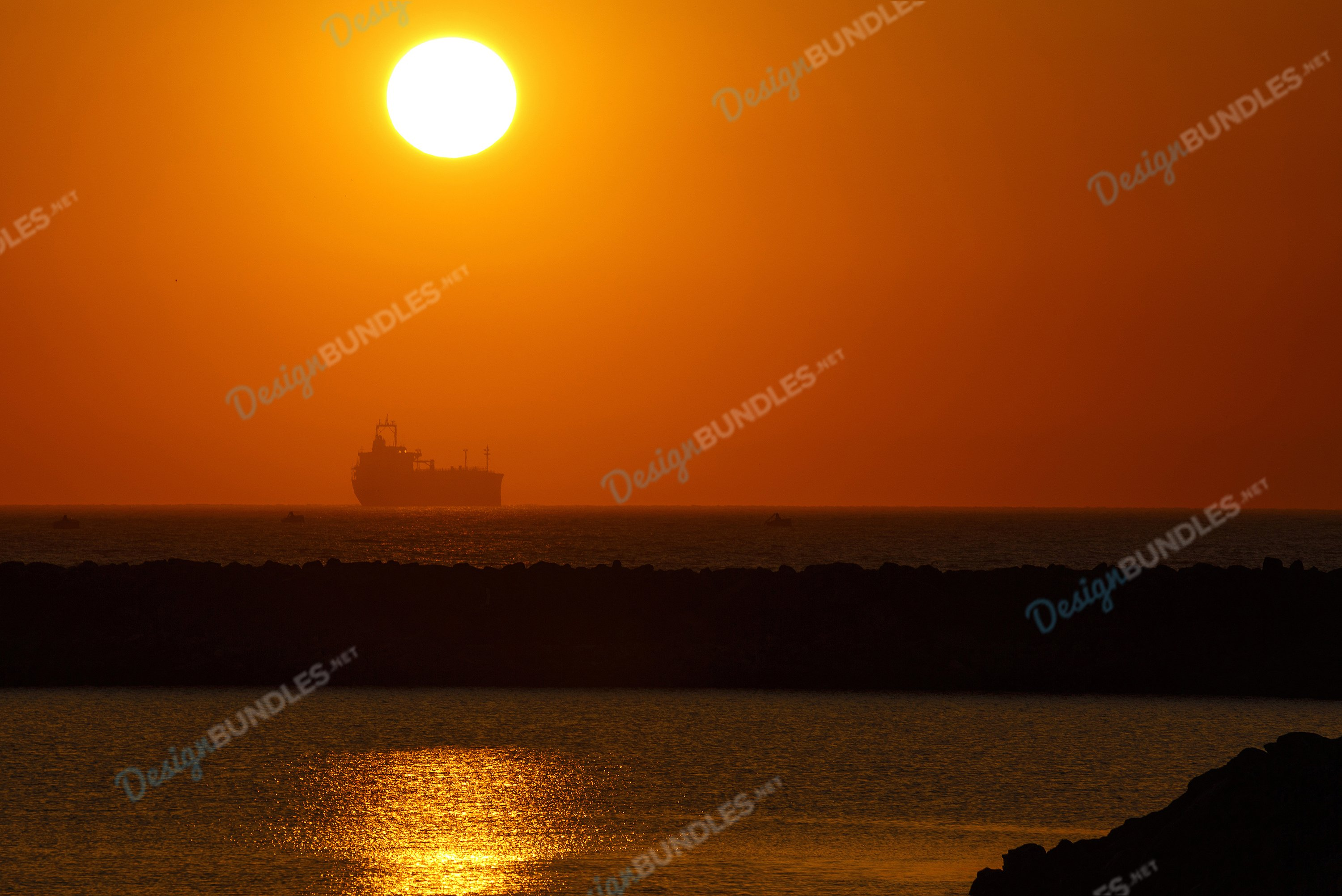 Ships And Sunset example image 1