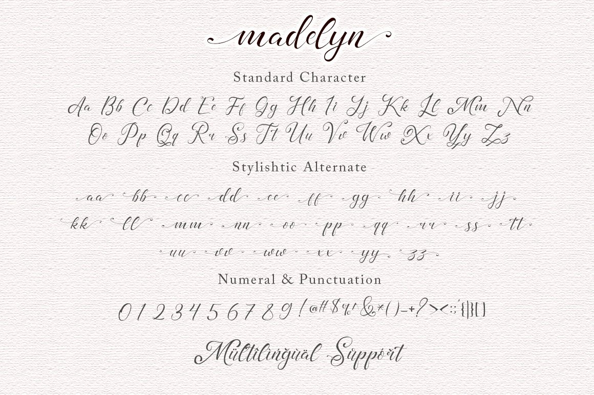 madelyn - Chic Script font example image 4
