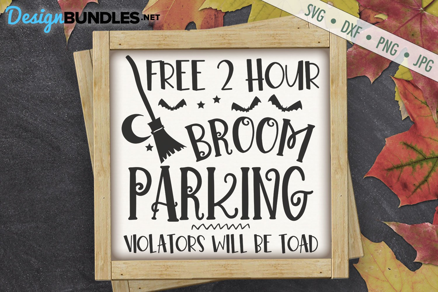 Broom Parking | Witch | Halloween SVG example image 1