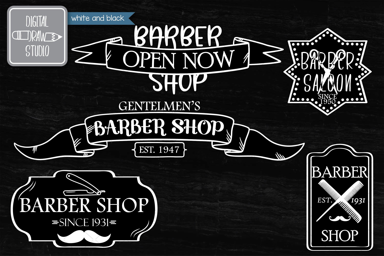 Hand Drawn Barber Shop Logo| Retro Hairdresser | Esp Svg Png example image 5
