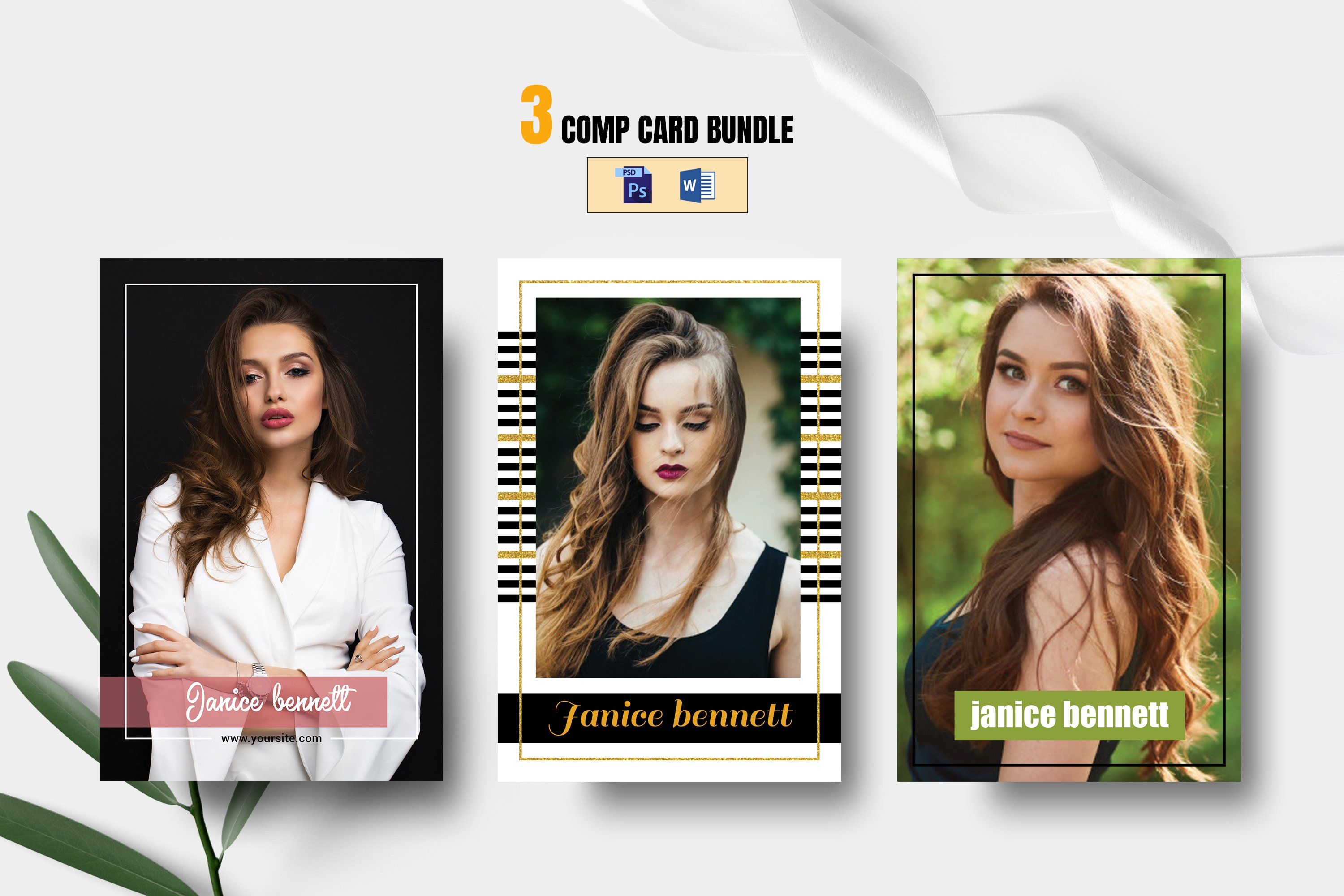 Modeling Comp Card Template (21)  Flyers  Design Bundles With Regard To Download Comp Card Template