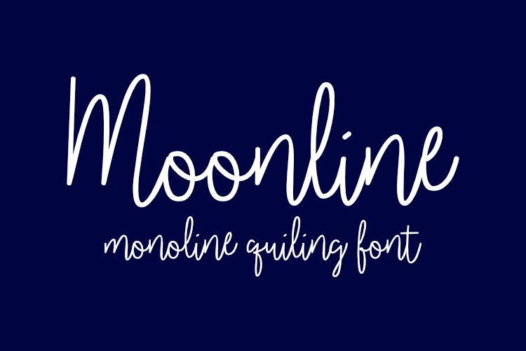 Moonline Single-line and hairline fonts example image 1