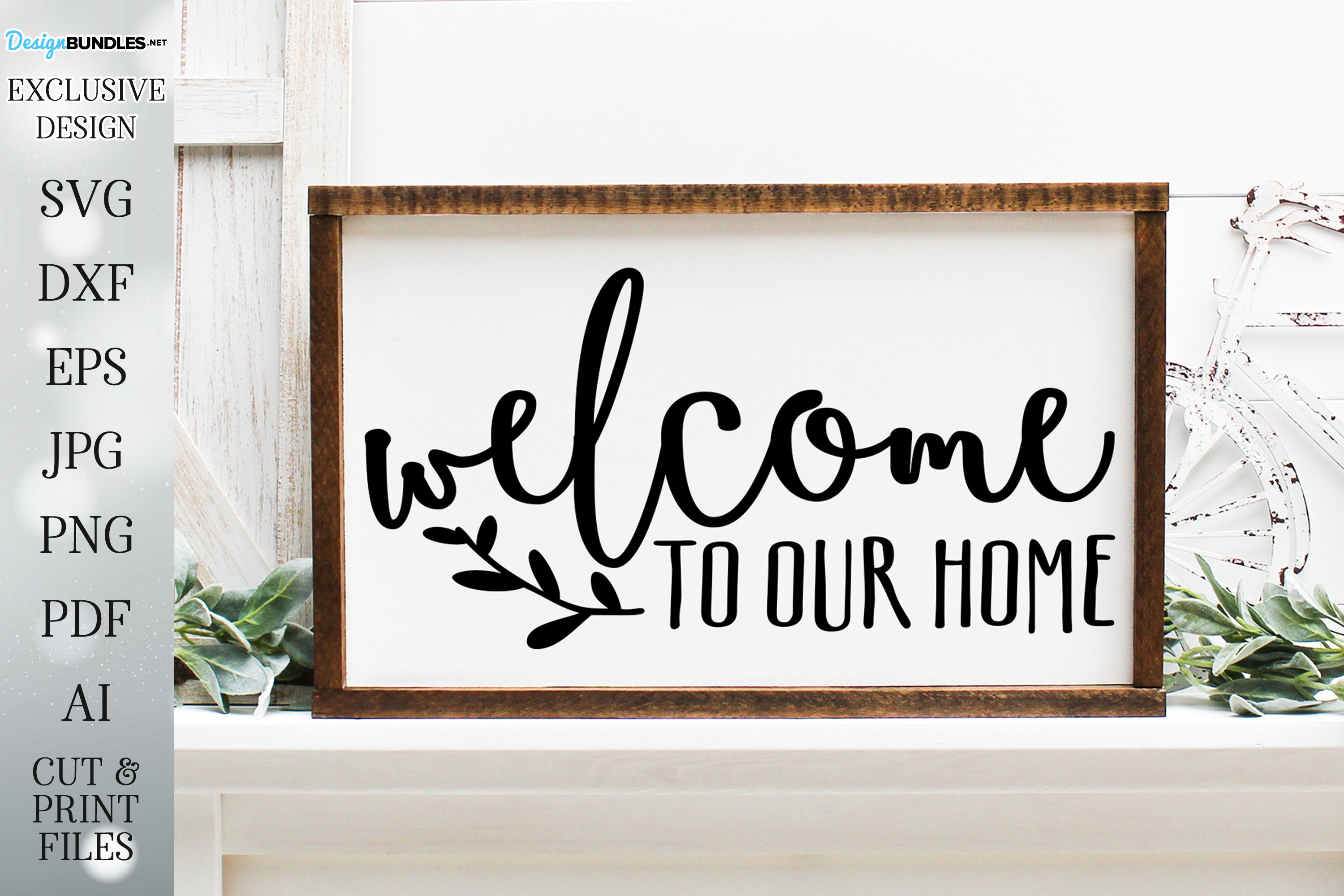 Welcome To Our Home - Farmhouse Wreath Sign example image 1