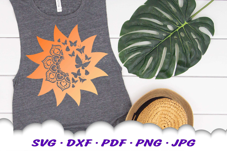 Mandala Butterfly Sun Celestial SVG DXF Cut Files example image 4