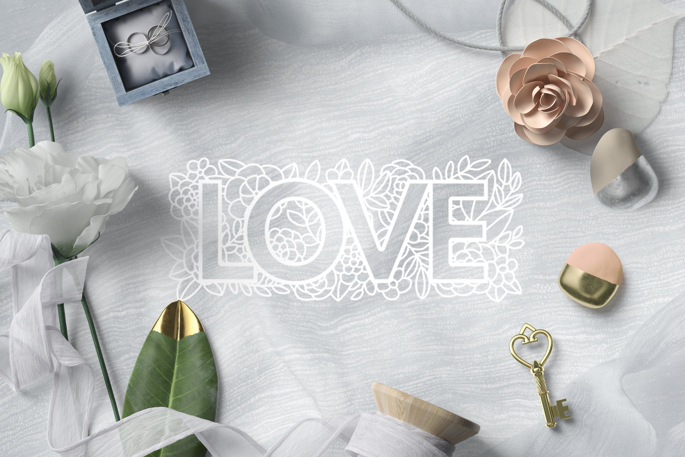 Paper cut / Love / Wedding Illustration / Save the Date example image 4