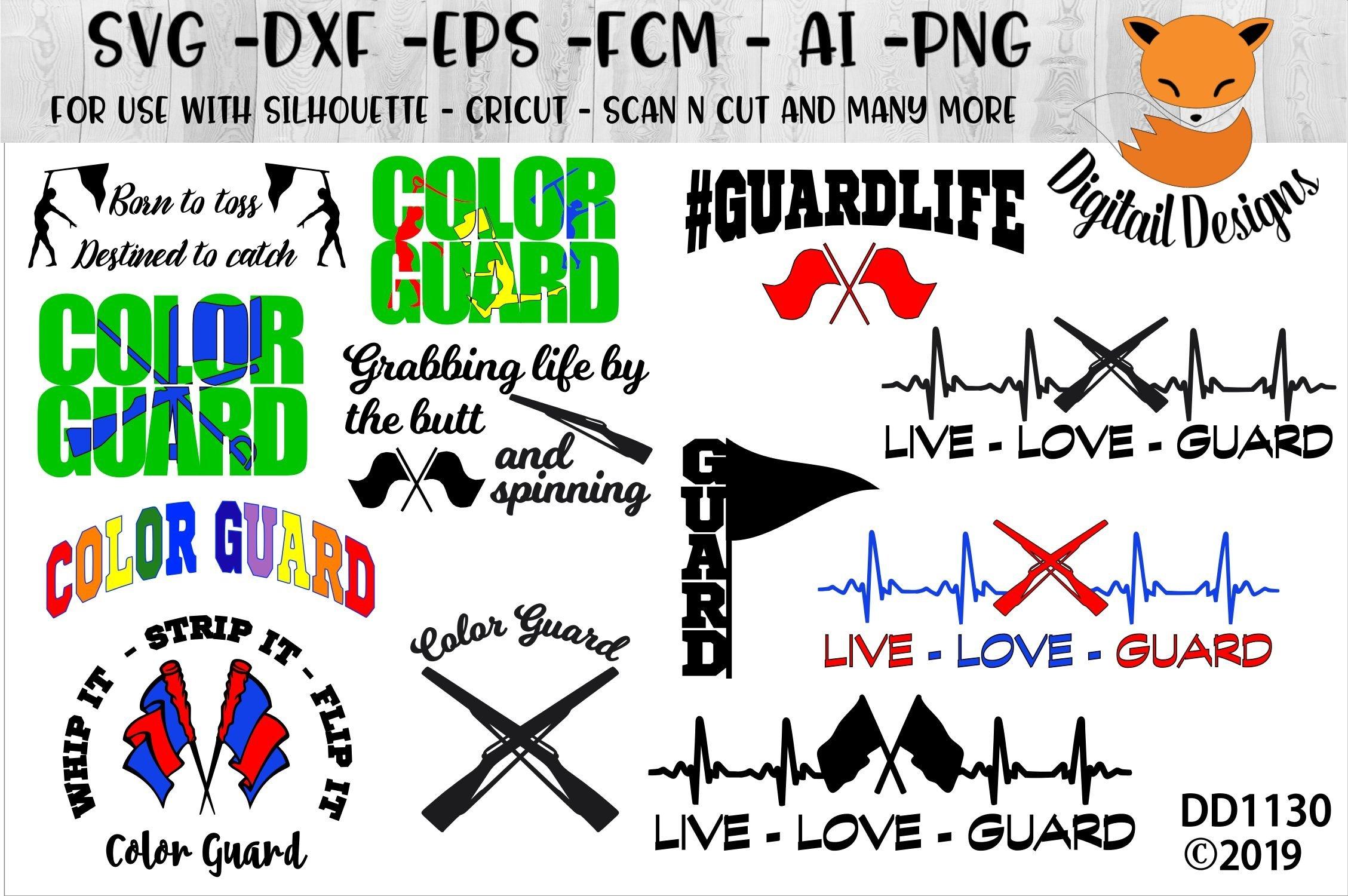 Color Guard 12 Svg Bundle 195577 Cut Files Design Bundles