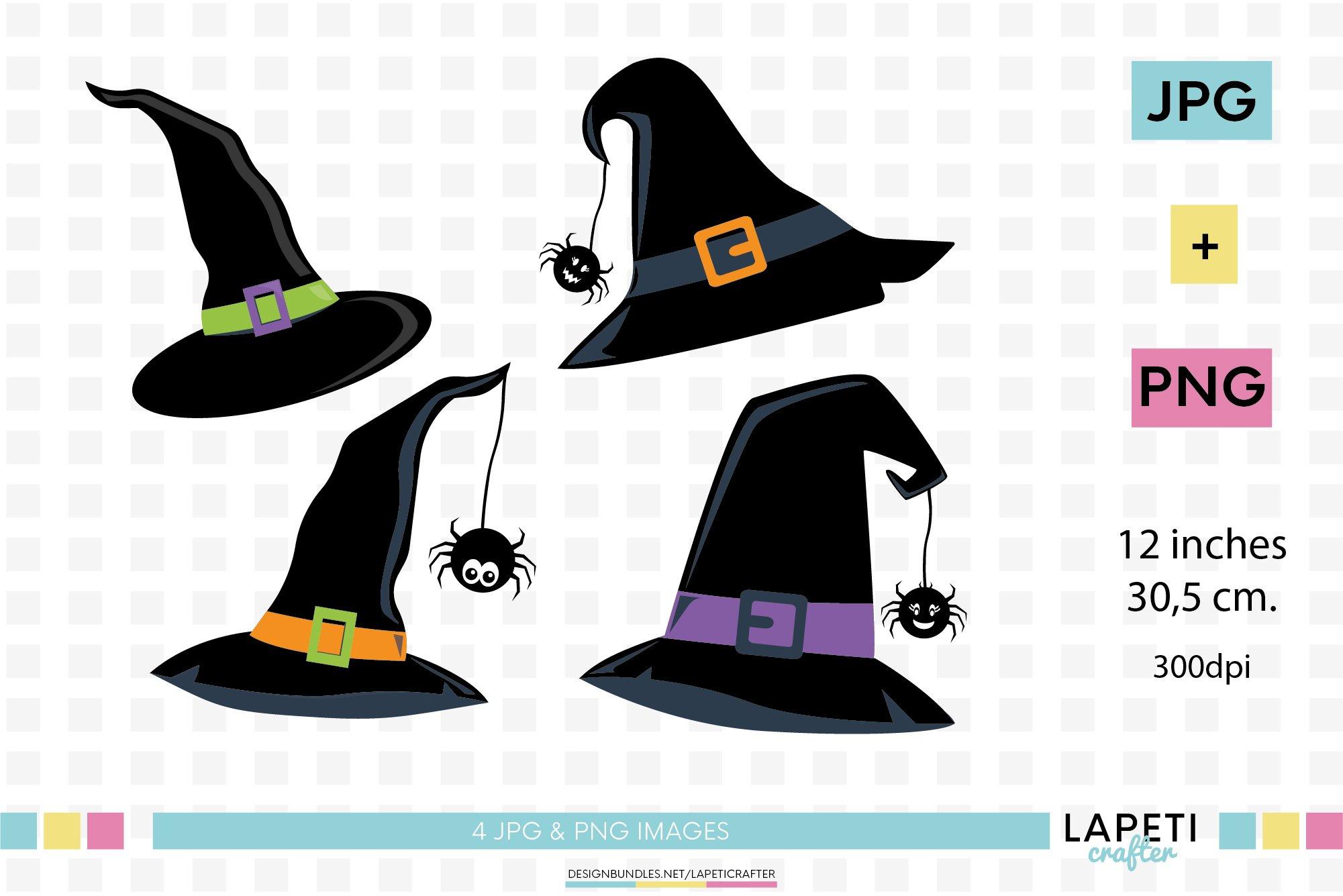 Witch Hat Png Halloween Witch Hat Clipart Black Hat Png 357967 Illustrations Design Bundles