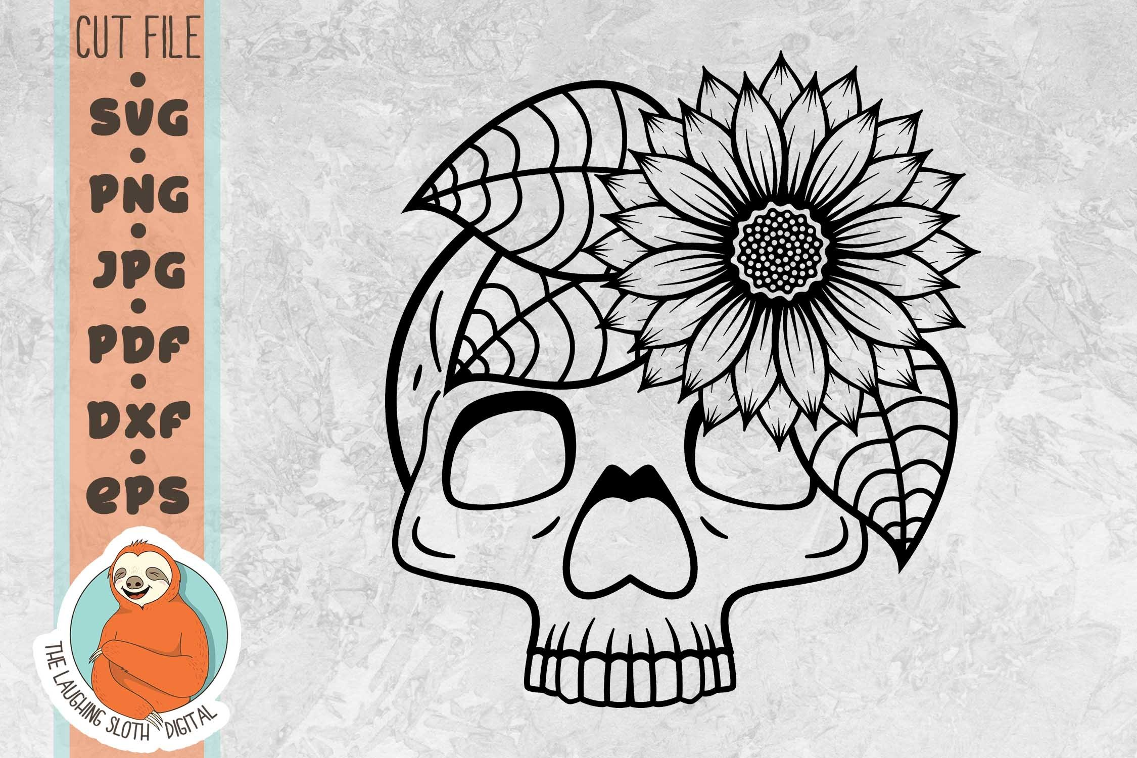 Boho Bull Skull And SunFlowers  Seamless Pattern  Digital File  Digital Download  Seamless Print  JPEG  Boho Pattern  Boho Print
