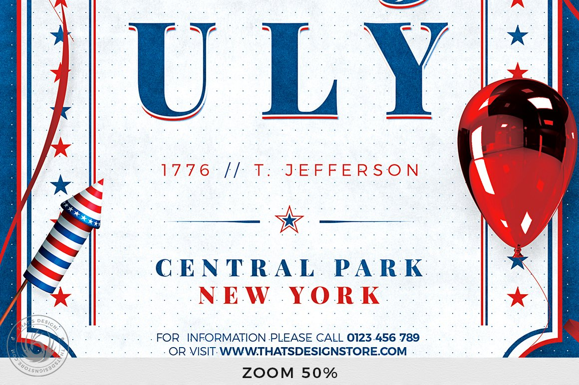 Independence Day Flyer Template V3 example image 8