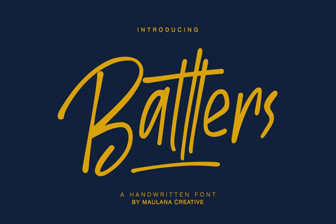 Batllers Handwritten Font example image 1