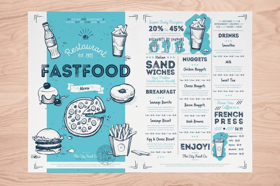 Fast Food Hand Draw Illustration Set example image 6