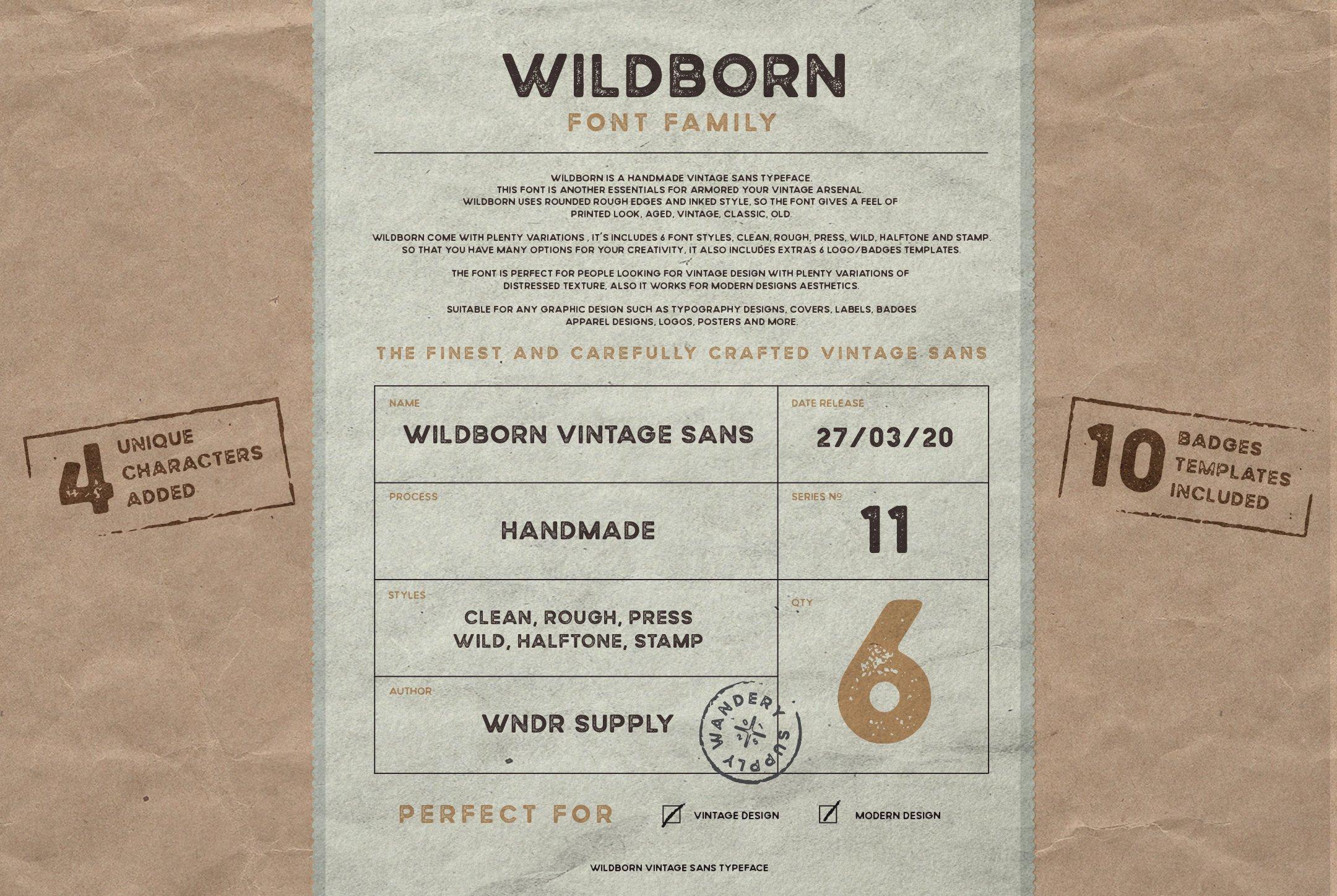 Wildborn Vintage Sans example image 13