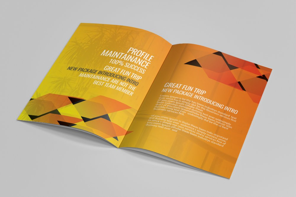 Business Portfolio Bifold Brochure 16 Pages example image 8