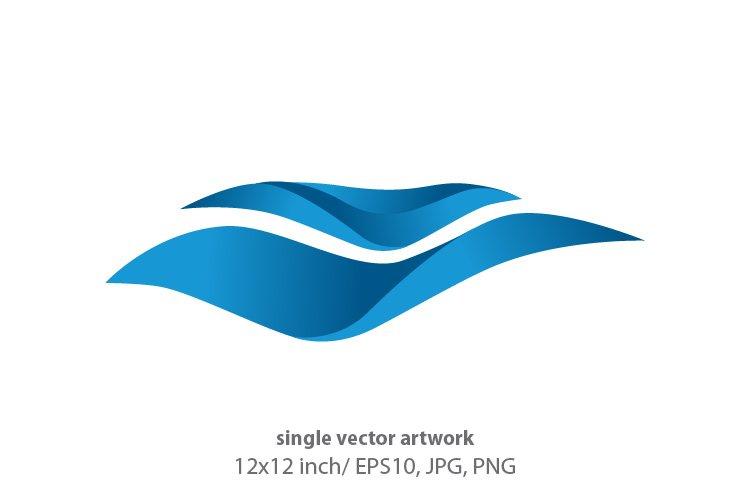 Ocean waves - single vector artwork example image 1