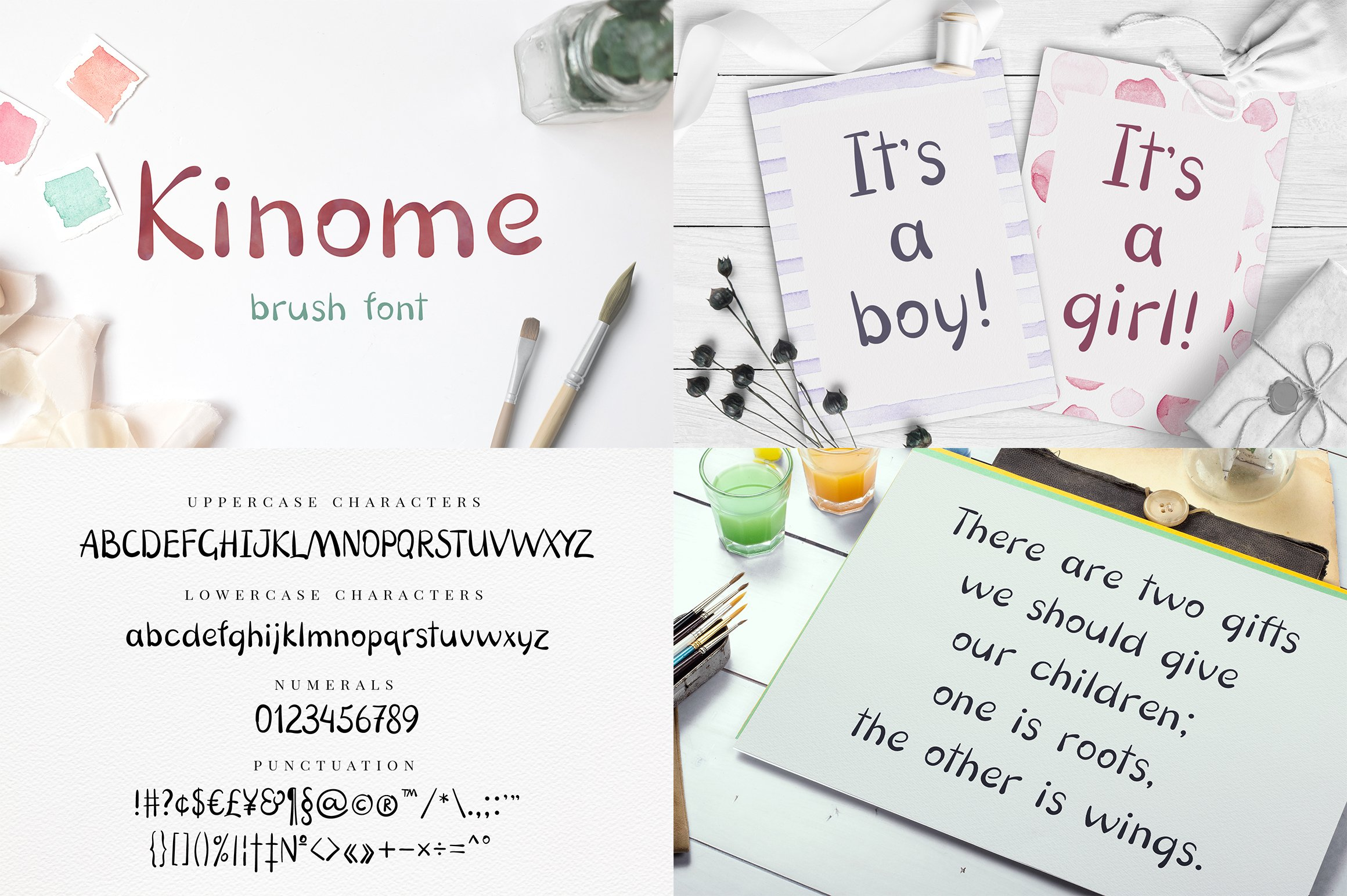 Font bundle - 6 handwritten and calligraphy fonts example image 5