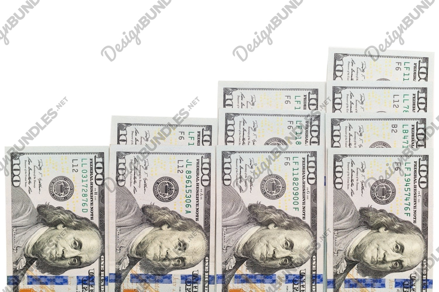 Photo of a growing dollar isolated on white background example image 1