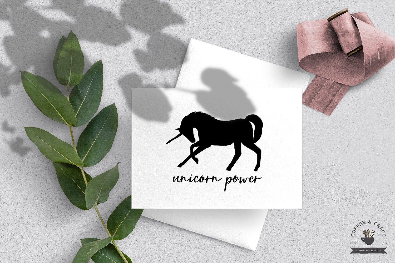Unicorn Silhouette set example image 5